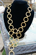 Gold Necklace Jewelry - Gold Daisy Chain by Susan Geluz
