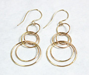 Series Jewelry - Gold Filled Circle Earrings by Julie Kujawa