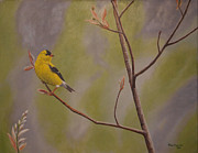 Bird Paintings - Gold Finch by Ron Plaizier