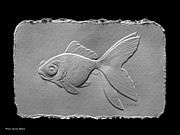 Animals Reliefs Originals - Gold fish1a by Suhas Tavkar