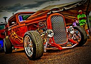 Gold Ford Photos - Gold Flames by Perry Webster