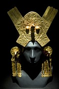 Artefact Framed Prints - Gold Headdress, Chimu Imperial Framed Print by Tony Camacho