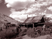 Ghost Town Photo Posters - Gold King Mine near Jerome Poster by Alex Cassels