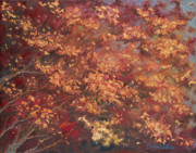 Original Oil Mixed Media - Gold Leaf 1 by Carolyn Coffey Wallace