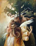 Gold Leaf Mysticism Print by Jacque Hudson