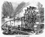 Sluice Prints - Gold Mining, 1860 Print by Granger
