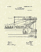 Gold Drawings - Gold Mining 1907 Patent Art by Prior Art Design