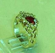 Red Jewelry - Gold Nugget Style Ring by Hal Sharpe