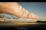 Beach Sunsets Posters - Gold Painted Clouds - Maui Hawaii Posters Series Poster by Denis Dore