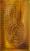 Collectibles Mixed Media - Gold Panel 06 by Li   van Saathoff