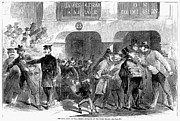 Bank Panic Prints - Gold Panic, 1863 Print by Granger