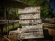 Owner Posters - Gold Panning Poster by Vincent Cascio