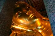 Handcrafted Art - Gold Reclining Buda by Linda Phelps