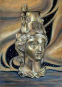 Ancient Pastels Prints - Gold Rhyton from Bulgaria Print by Stoyanka Ivanova