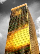 Buildings Acrylic Prints - Gold by Roberto Alamino