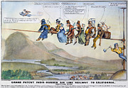 Forty Niner Prints - Gold Rush Cartoon, 1849 Print by Granger