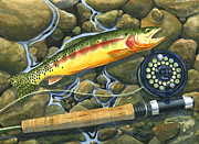 Golden Fish Painting Posters - Gold Strike Poster by Mark Jennings