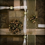 Beads Mixed Media Prints - Gold Yarn Print by Sveta Shved