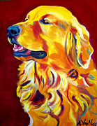 Dawgart Framed Prints - Golden - Scout Framed Print by Alicia VanNoy Call