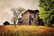Abandoned Houses Prints - Golden Age Print by Emily Stauring