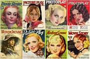 Shirley Temple Posters - Golden Age of Movies Magazine Covers Poster by Don Struke