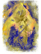 Cheers Digital Art Prints - Golden Angel Print by Nato  Gomes