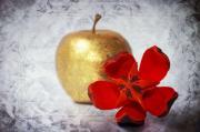 Old Mixed Media - Golden Apple by Angela Doelling AD DESIGN Photo and PhotoArt
