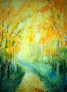 Impressionistic Landscape Painting Originals - Golden Arches ll by Shirley Braithwaite Hunt