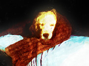 Retrievers Digital Art Metal Prints - Golden Aura Metal Print by Rora