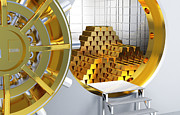 Treasure Box Photos - Golden Bars by Gualtiero Boffi