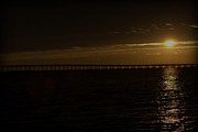 Florida Bridge Photo Originals - Golden Bridge at Sun Rise by John Wright