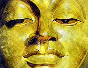 Jose Miguel Barrionuevo Metal Prints - Golden Buddha Metal Print by Jose Miguel Barrionuevo