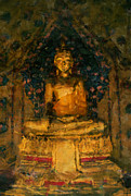 Bangkok Paintings - Golden Buddha by Stefan Olivier