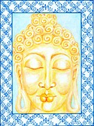 Devotional Mixed Media - Golden Buddha by Suzan  Sommers