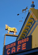 Leadville Prints - Golden Burro Cafe Vintage Sign Print by The Forests Edge Photography - Diane Sandoval