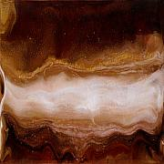 Caves Mixed Media - Golden Caves 1 by Paul Tokarski