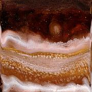Caves Mixed Media - Golden Caves 2 by Paul Tokarski