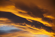 Afterglow Photos - Golden clouds by Garry Gay
