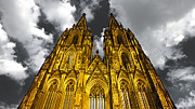Colorkey Prints - Golden Dome of Cologne Print by Thomas Splietker