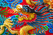Bayonet Prints - Golden Dragon Print by Subpong Ittitanakul