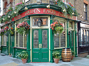 Europe Drawings - Golden Eagle Pub by Joseph Hendrix
