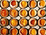 Portrait Reliefs - Golden Eggs 2 by Mark Cawood