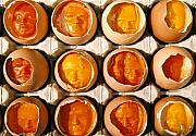 Portrait Reliefs - Golden Eggs by Mark Cawood