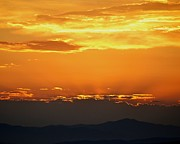 Sunset Greeting Cards Photo Prints - Golden Evening Print by Kevin Bone