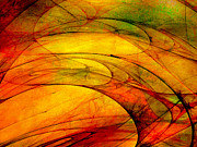 Vivid Colour Digital Art - Golden Expression by Paul St George