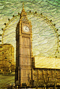 London Art - Golden Eyes by Donald Davis