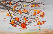 Michelle Wiarda - Golden Feeling Watercolor Painting