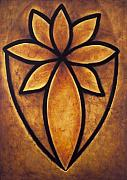 Archetypal Framed Prints - Golden Flower Framed Print by Glen Rogers
