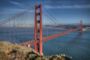Architektur Photo Posters - Golden Gate Poster by Andreas Freund