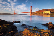 Sausalito California Metal Prints - Golden Gate at dawn Metal Print by Brian Jannsen